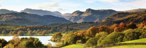 Langdale Pikes and Windermere