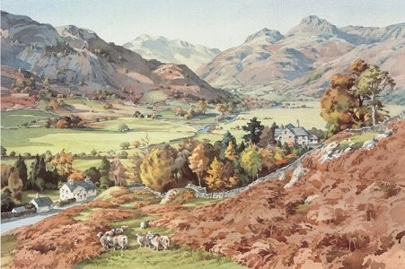 Great Langdale Valley in October