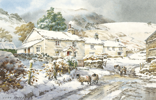 A Grasmere Farmstead After Snow