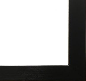 Black Frame with Silver Inner Edge