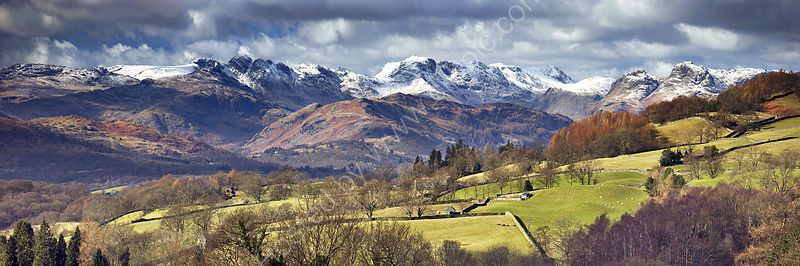 Langdale Fells from Troutbeck