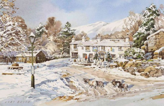 New Year, Britannia Inn, Elterwater