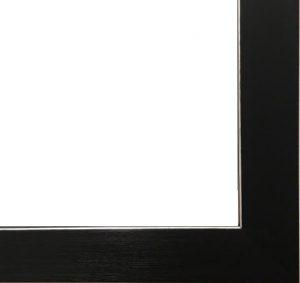 Black Frame with Silver Inner Edge